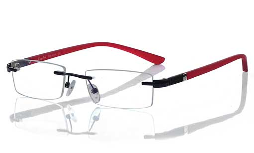 red spectacle frames