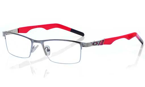 Red and Silver Half rim frames